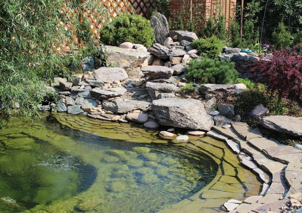 Bassin aquatique avec fontaine